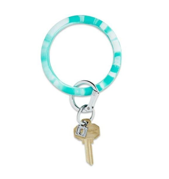 Silicone Big O Key Ring - In the Pool Marble