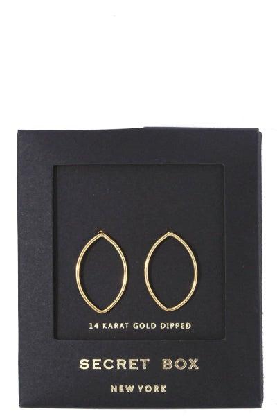 Marquise Shape Post Earrings