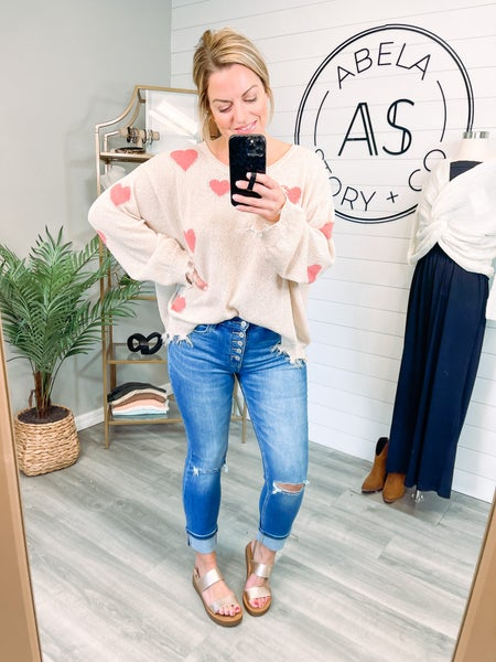 First Comes Love Vervet High Rise Distressed Jeans