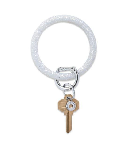 Silicone Big O Key Ring - Quicksilver Confetti