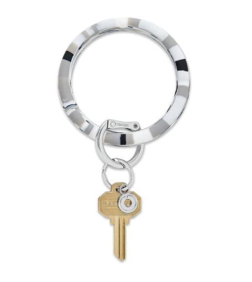 Silicone Big O Key Ring - Tuxedo Marble