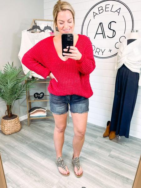 My New Obsession Judy Blue Contrast Wash Frayed Hem Shorts (Plus + Reg)