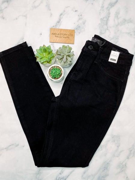 Challenge Accepted Black Mid-Rise Non- Distressed Skinny Jeans *Final Sale*