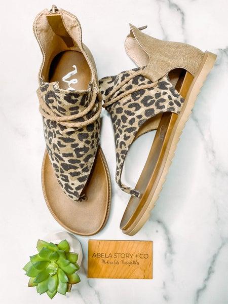 Angelika Leopard Sandal-Tan Leopard