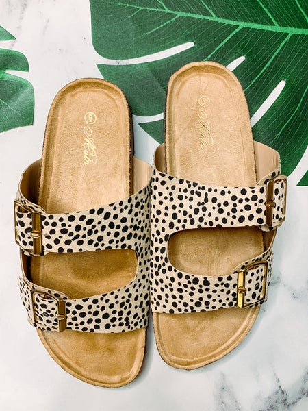 Cardi Buckle Sandals - Animal Print *Final Sale*
