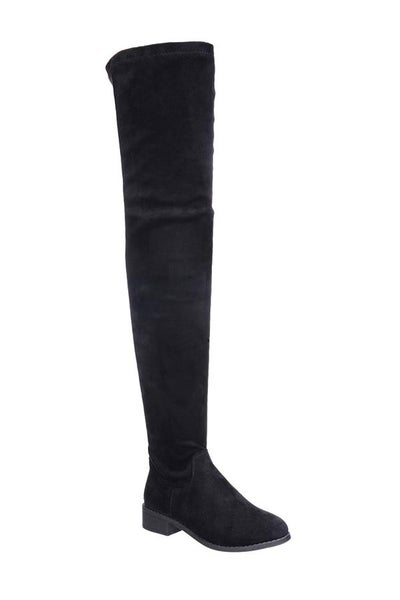 Olympia Thigh High Boots - Black