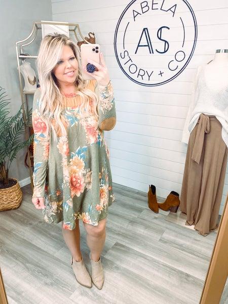 Just You Wait Floral Print Knit Dress (Plus + Reg)