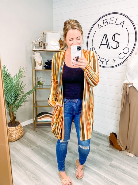 Stripe of Your Life Open Front Cardigan *Final Sale*