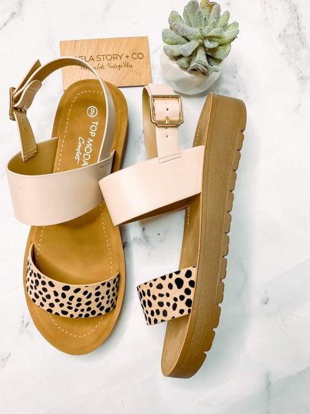 Salvia Strap Sandals - Spot