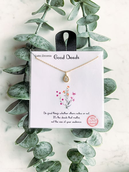 Good Deed Necklace - Gold