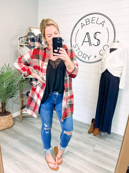 Change of Heart Vervet Mid Rise Cuffed Distressed Skinny Jeans