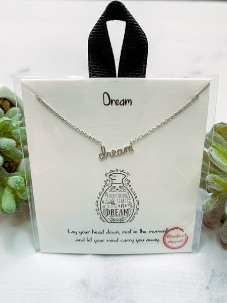 """""""Dream"""" Necklace - Silver"""