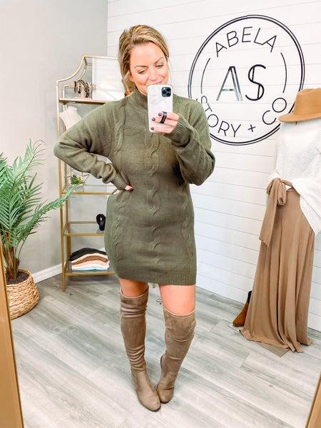 Winter Wonders Cable Knit Sweater Dress *Final Sale*