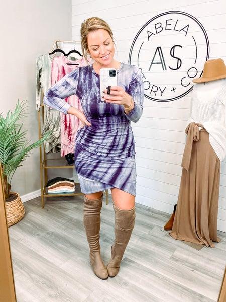 Dressy Nights Tie Dye Midi Dress - Black *Final Sale*