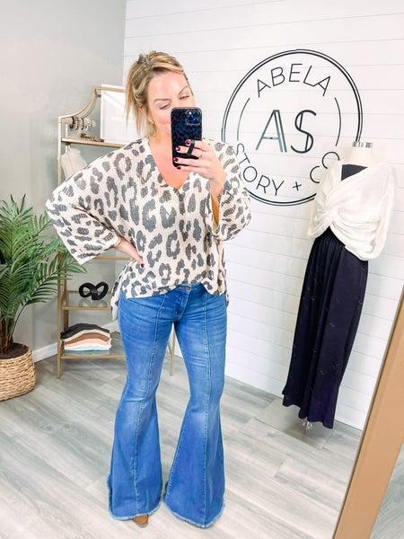 High Rise Judy Blue Seamed Super Flare Jeans (Plus + Reg)