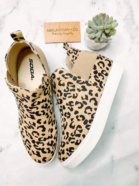 Diana Sneaker Bootie - Leopard