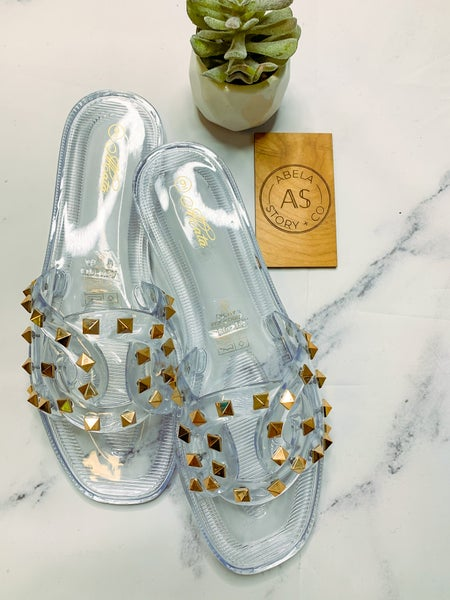 Lacma Studded Sandals - Clear
