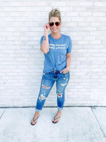 Desert Drive Destroyed Boyfriend Jeans *Final Sale*