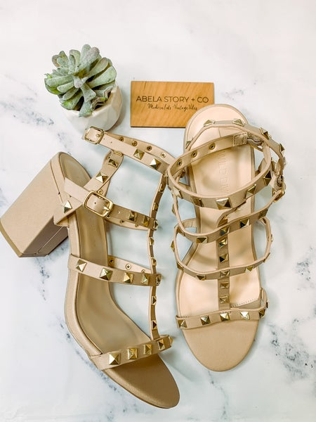 Susie Studded Strappy Heels