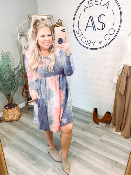 In My Downtime Tie Dye Babydoll Dress