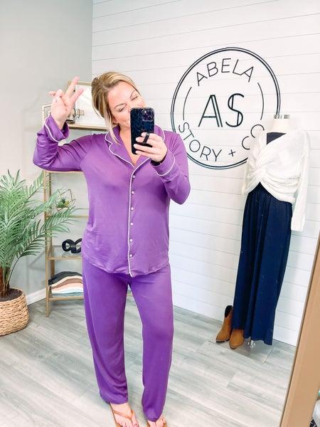 Abela Sleep Tight Pajama Set - Eggplant