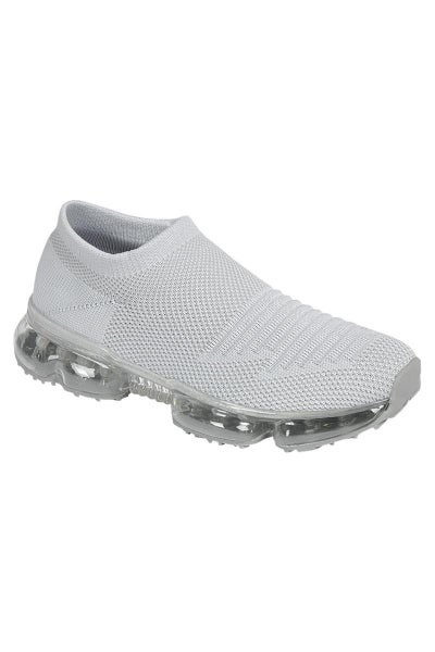Flow Lace-Less Fashion Sneakers - Grey