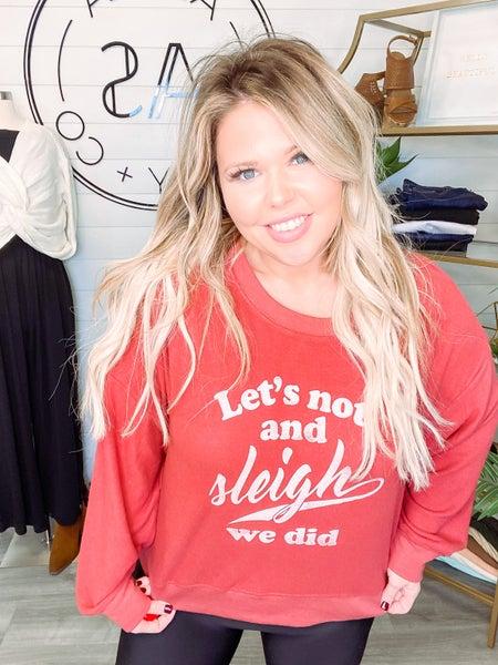 Z Supply Elle Sleigh Sweatshirt - Rosy Red