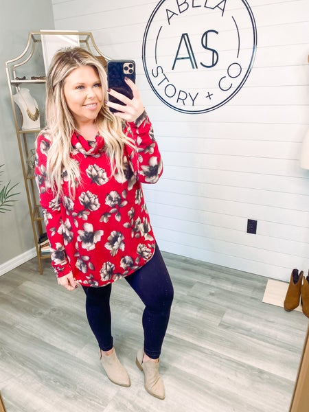 See the Good Floral Long Sleeve Tunic Top *Final Sale*