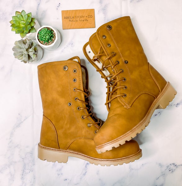 Whitney lace Up Boots *Final Sale*