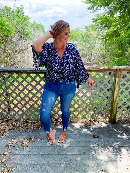 Out West Distressed Skinny Jeans *Final Sale*