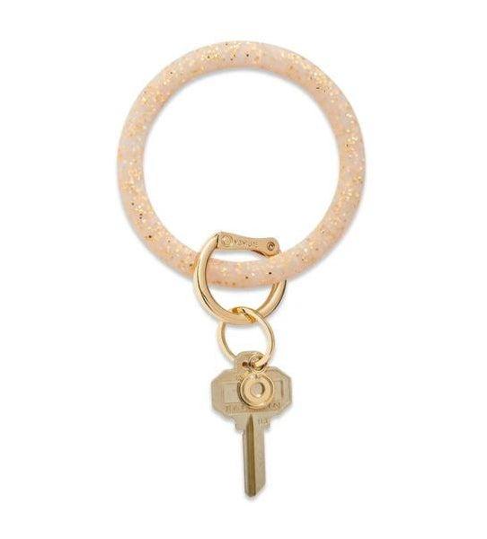 Silicone Big O Key Ring - Gold Rush Confetti