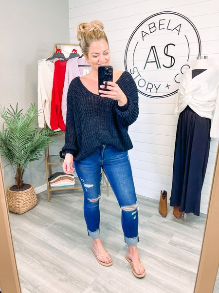 See You Again Vervet Mid Rise Distressed Raw Hem Straight Jeans
