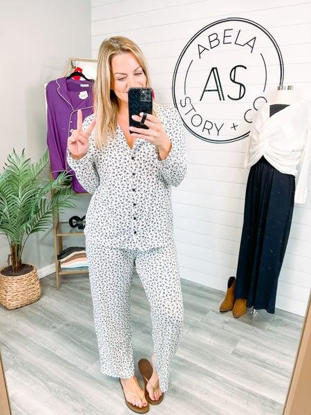 Abela Sleep Tight Pajama Set - Ivory Ditsy Floral