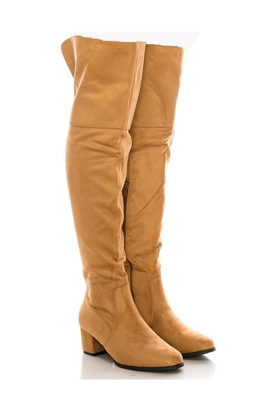 Linden Knee High Heeled Boots