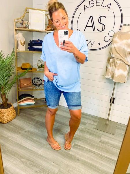 Bad Babe High Waist Bermuda Shorts *Final Sale*