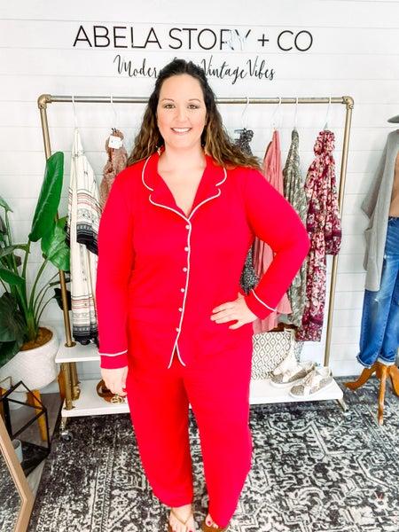Abela Sleep Tight Pajama Set - Red