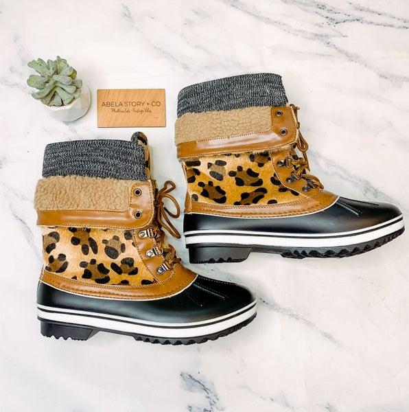 Valerie Animal Print Duck Boots *Final Sale*
