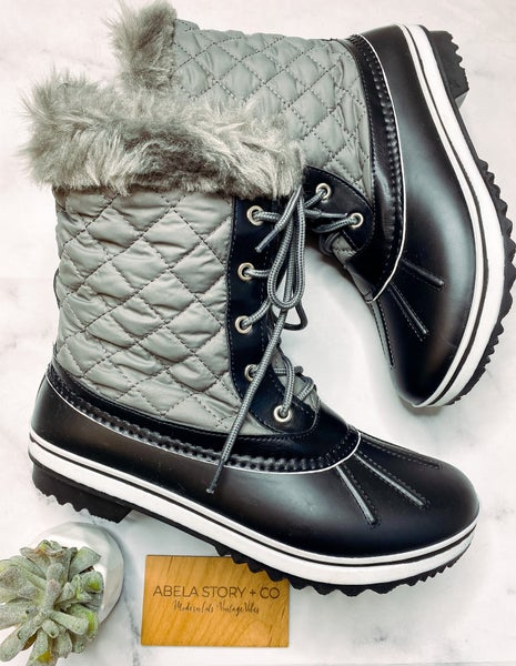 Most valued Duck Boots Around -Grey *Final Sale*