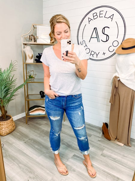 In Good Company High Rise Distressed Straight Leg Jeans
