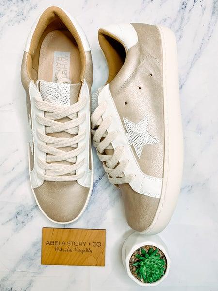 Time to Shine Metallic Fashion Sneakers - Rose Gold *Final Sale*