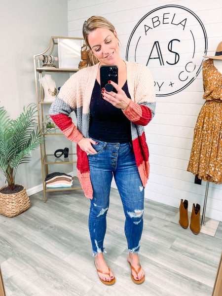 Save Me a Seat High Rise Button Fly Skinny Jeans (Plus + Reg) *Final Sale*