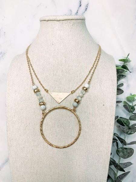 Ring Pendant Necklace Set