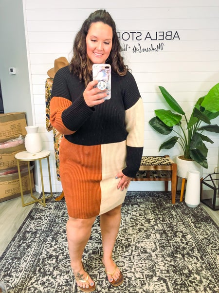 Need a Hug Color Block Sweater Dress *Final Sale*