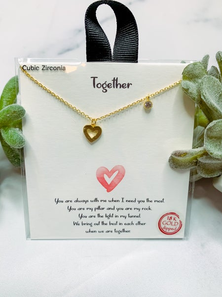 Together Heart Necklace - Gold
