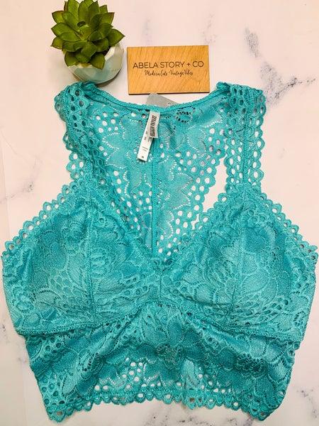 Angelina Stretch Lace Bralette - Ash Mint (Plus + Reg) *Final Sale*
