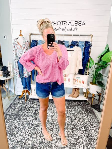 Fresh Focus Judy Blue Mid Rise Cuffed Shorts  (Plus + Reg)