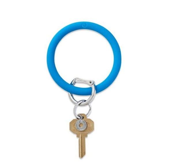 Silicone Big O Key Ring - Peacock