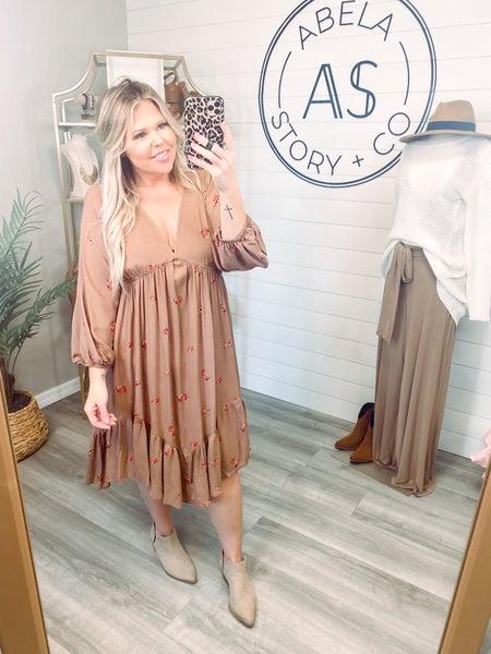 Seize The Day Asymmetrical Hem Floral Dress *Final Sale*