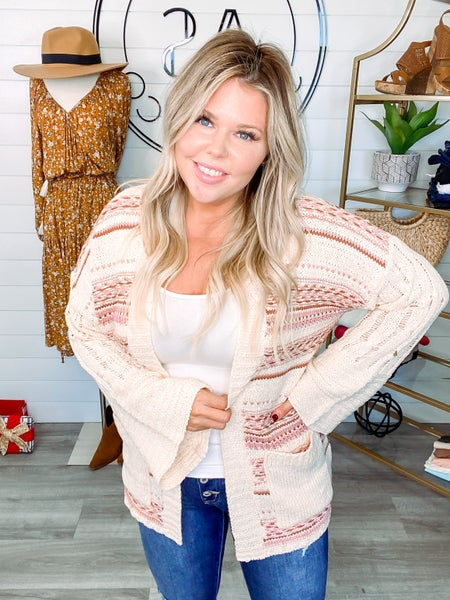 Ready to Explore Slouchy Drop Shoulder Cardigan
