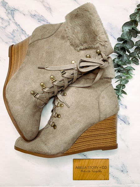 Wishing I was In The Snow Boots - Taupe *Final Sale*